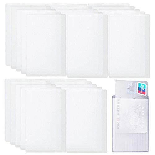 カードケース 100枚セット 透明 防水 磁気防止 クレジット カードホルダー カード保護ケース プロテクター マットな質感 縦入れ IC・IDカード パスポート 免許証 保険証 キャッシュカード カード などに対応 保護