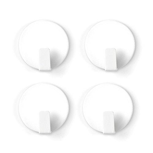 Trendform Anti-Rutsch feste magnetischen Haken - weiß (1 Satz 4), Metall, silver, 25 x 10 x 3 cm
