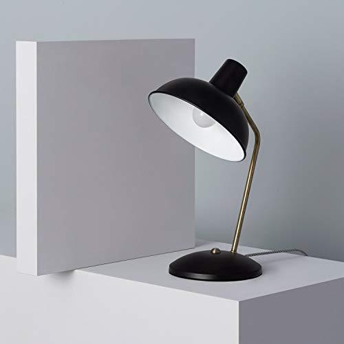LEDKIA LIGHTING Lámpara de Mesa Sahani 375x250x195 mm Negro E14 Casquillo Fino Aluminio Decoración Salón, Habitación, Dormitorio