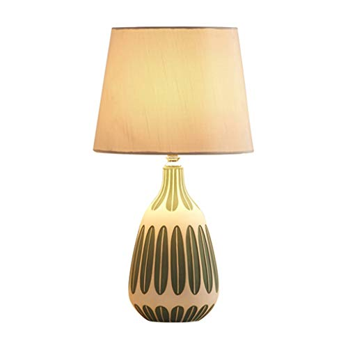 SHUTING2020 lámpara de Mesa Lámpara de Mesa de Dormitorio de la Sala de Estar de cerámica Moderna romántica, lámpara de cabecera del Dormitorio con Estilo - Iluminación 360 Lámpara Noche