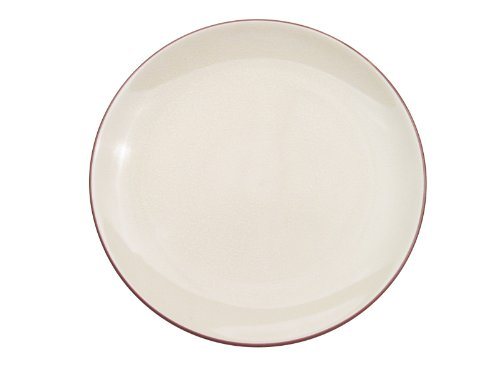 CAC China Japanese Style 10-Inch Creamy White Coupe Round Plate, Box of 12