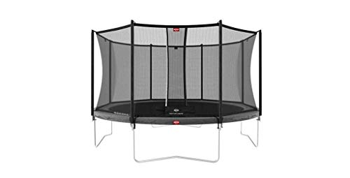 BERG Favorit Regular 430 14ft Trampoline Grey + Safety Net Comfort Trampoline