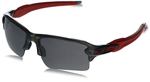 Oakley Men's OO9188 Flak 2.0 XL Rectangular Sunglasses, Matte Black/Black Iridium, 59 mm