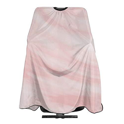 Cape de coiffeur à motif marbré blanc et rose - En polyester léger - 140 x 300 cm