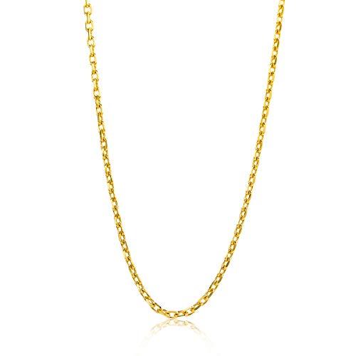 Miore ketting uit 14 karaat 585/1000 geelgoud geslepen anker schakel met lengte 45 cm