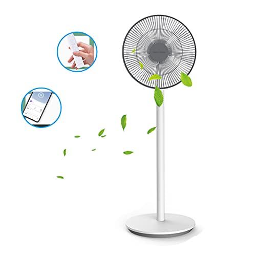 Dream Maker Ventilador De Pedestal Inalámbrico Silencio 28 Horas De Trabajo APLICACIÓN Bluetooth Control Remoto Se Puede Cambiar A Un Ventilador De Mesa Usar Con Aire Acondicionado/Calefacción