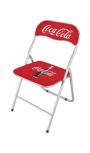 thesecrethome.es Silla Plegable - Coca-Cola – 44x45x79cm – Decoracion Salon Habitacion Oficina (
