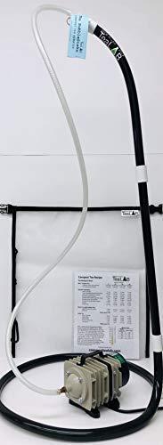 Compost Tea Kit: 50 Gallon Brewer Kit: BubbleSnake, Large Brew Bag, Air Pump & Tubing