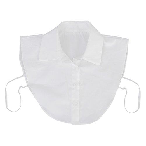 【ノーブランド品】シャツ 付け襟 偽襟 えり 角襟 簡単 変身 重ね着  白
