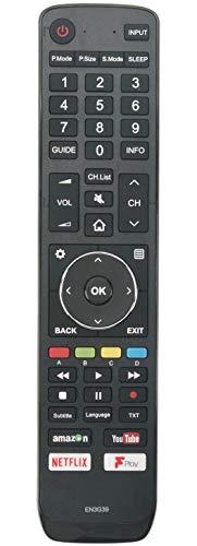 ALLIMITY EN3G39 Control Remoto reemplazado por Hisense UHD 4K TV H49N5500 H49N5500UK H43A6200 H43A6200UK H49N5500 H50N5300...