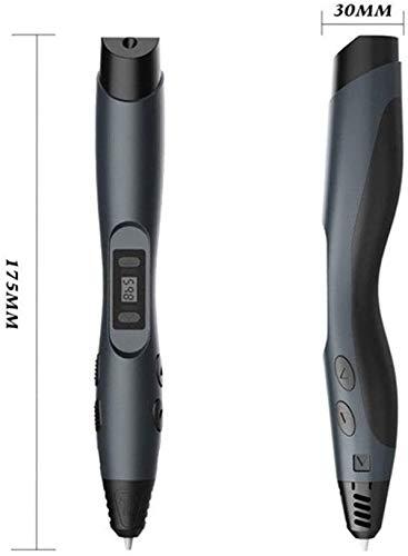 LINANNAN Pen Support 3D ABS PLA Smart stylos de Dessin 3D avec Affichage LED Filament pour Les Cadeaux d'enfants (Couleur: SL 300 Noir)