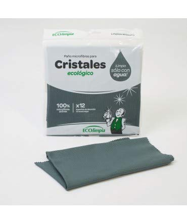 10XDIEZ Pack 4 paños bayeta ecolimpia Especial Cristales