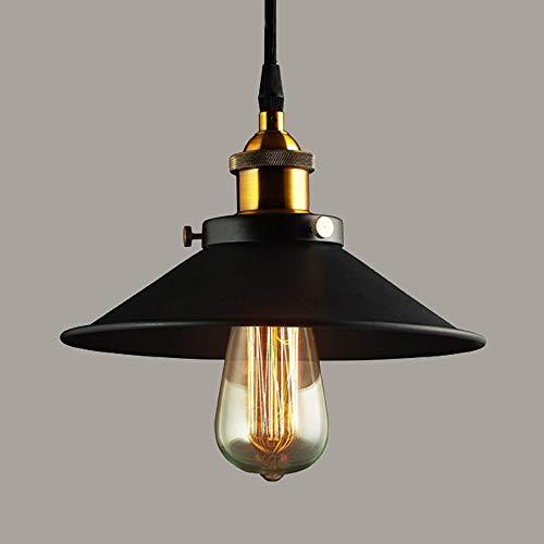 Xindaxin® Industrial Luz Colgante Retro Luz de Techo Vintage lámpara Edison Colgante de Luz, Moderna Lámpara de Techo Decorativa Iluminación E27,Ø22CM