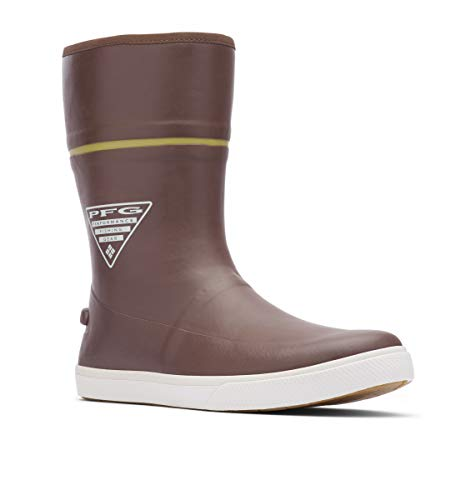 Columbia PFG Men's Dorado LITUP 10 PFG Rain Boot, Tobacco/Peppercorn, 9 Regular US