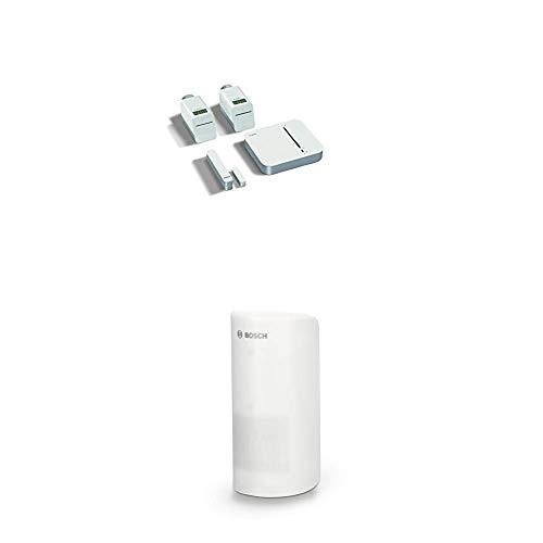 Bosch Smart Home Raumklima Starter-Set + Unterputz Rollladen Steuerung + Bewegungsmelder + Tür-/Fensterkontakt + Rauchmelder