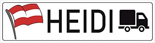 Nummernschild mit Text oder Namen selbst gestalten ✓ Witterungswiderstandsfähig ✓ Austria Österreich Flagge ✓ Perfekte Geschenkidee | Persönliche Namensschilder, Aluminium-Schild | Autoschild mit Fahne | Aluschild, Kfz-Kennzeichen-Schilder mit Wunschtext