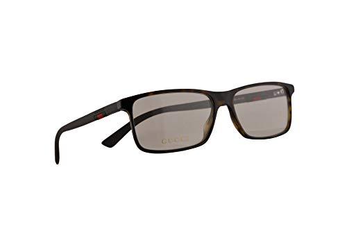 Gucci GGG0424O lentes 56-16-145 Havana marrón con lente transparente 002 GG 0424O