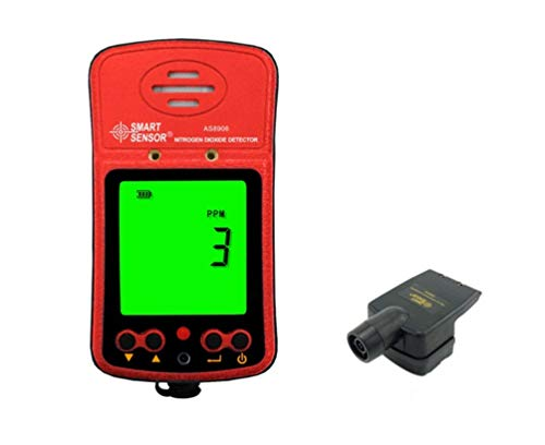 Portable Nitrogen Dioxide Detector 0-20PPM Range LCD Display Backlit Rechargeable Li-battery Powered Three Alarm Way Digital NO2 Gas Monitor Meter Tester Analyzer with Sampling Pump