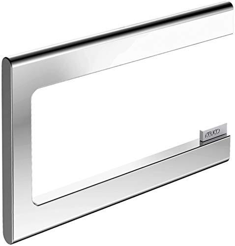 KEUCO Toilettenpapierhalter aus Metall, hochglanz-verchromt, offene Form, WC-Rollenhalter für Badezimmer und Gäste-WC, Edition 400