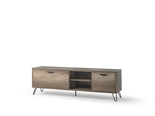 DUGARHOME - Muebles de TV Estilo Industrial - Mueble Kansas Madera/Hierro (180x40x55)