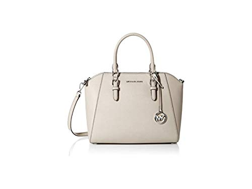 "Made of Saffiano leather Removable and adjustable crossbody strap, wear three ways, crossbody, over the shoulder or carry by hand Top zip closure Outside 1 back slip pocket, inside 1 zip pocket and 2 slip pockets 13""L x 10""H x 5""D"