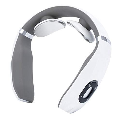 Blue-Yan Intelligente Gebärmutterhalsmassage Instrument Elektromagnetischer Schock Puls Kneten Physiotherapie Nackenmassagegerät Nackeninstrument Gebärmutterhalsmassagegerät Nackenschutz (weiß)