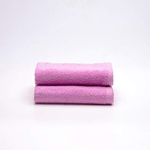 Sancarlos Ocean, Juego de 2 Toallas de Lavabo, Color Rosa Chicle, Tamaño 50x100 cm
