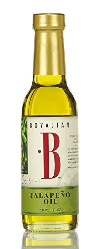 Boyajian 8 Ounce 100% Pure Jalapeño Olive Oil