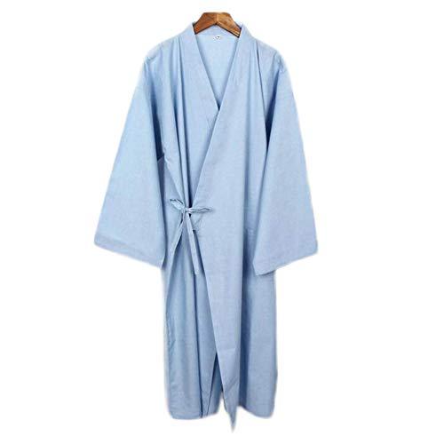 Hombres de Estilo japonés de algodón Fino Albornoz Pijamas Kimono Batas de baño Ropa de dormir-F17