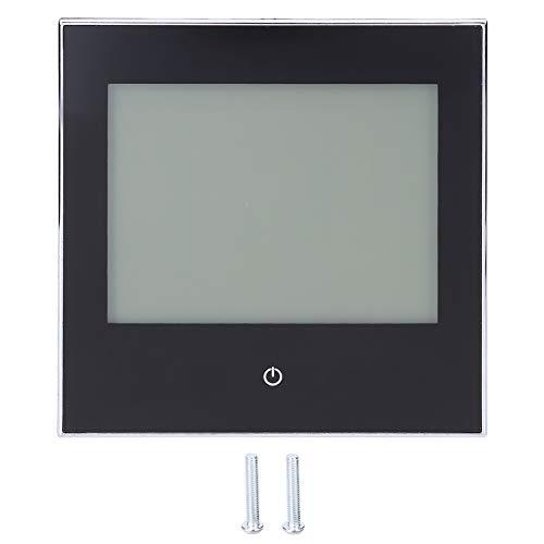 Termostato, Termostato de Ambiente de Calefacción, Termostato Inteligente, Controlador de Temperatura Ambiente, Pantalla Táctil LCD Programable Semanal 3A AC110-230V(negro)