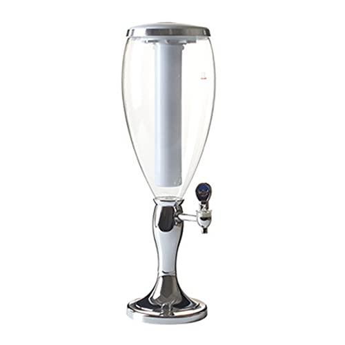 Zavddy Distributore di Succhi Bere Birra E Distributore di Bevande con Tap Litri con Ghiaccio Cooler Beerbeer Ideale per Bar (Colore : Silver, Size : 52.5X16CM)