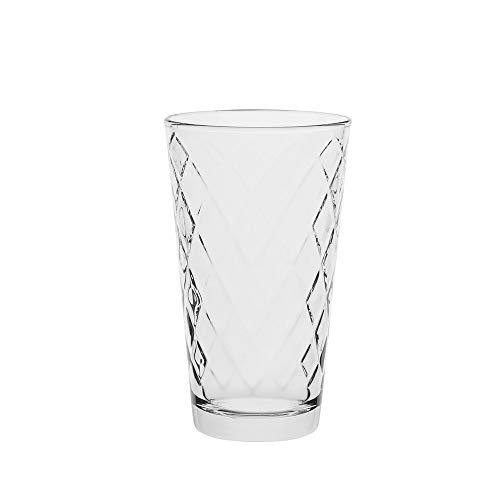 AmazonCommercial 72075-12pk - Vasos de tubo, vidrio, 369,6 ml, juego de 12 unidades