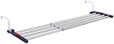 Leifheit Quartett 42 - Tendedero de ropa apto para uso en interiores y exteriores, colgante, extensible, de aluminio, anchura desde 55 hasta 105 cm