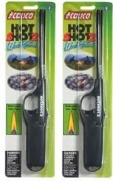 calico 2 Pack HOT Shot 2 Wind Resistant Lighters