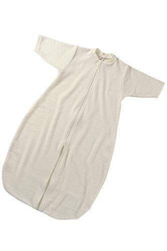 Engel Natur, Frottee Schlafsack mit Reißverschluss, 100% Wolle (kbT) (0 (62/68), Natur)