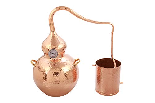 Artisans Village Copper Moonshine Still, Home Brewing Still for Alcohol with 5 Gallon Capacity, Pure Copper…