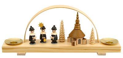 Miniaturschwibbogen Seiffener Kirche mit Kurende - F202/530/B