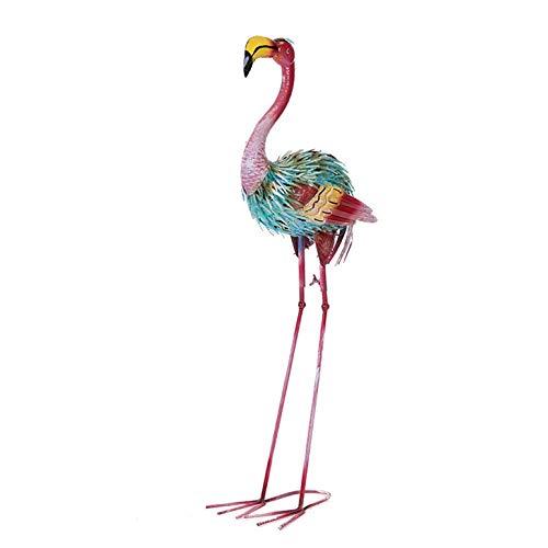 LXDDP Jardín de Metal Flamingo Adorno Decoración Patio Resistente a la Intemperie Colorido,Decoración de jardín Accesorios de Boda