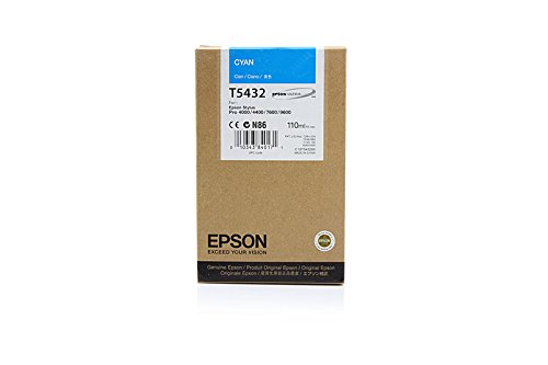 Original Epson C13T543200 / T5432 Tinte (cyan, Inhalt 110 ml) für Color Proofer 7600, 9600; Stylus Pro 4000, 7600, 9600