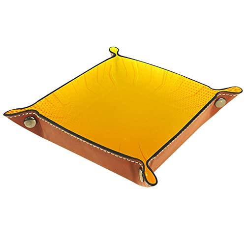 Piccola scatola portaoggetti, svuotatasche da uomo,linee di zoom fumetti gialli ,Organizer in pelle catchall per portamonete portachiavi