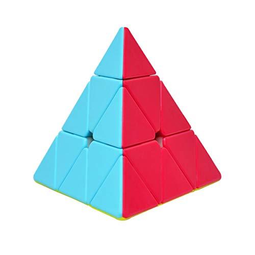 Cooja Pyraminx Cubo Magico de Velocidad, Speed Cube Smooth Magic Cube Puzzle Piraminx Durable Regalo de Juguetes para Niños Niñas