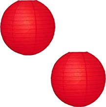 Jamboree Red Paper Table Lantern (30 cm X 30 cm, Pack of 2)