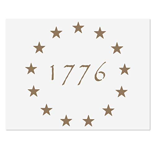 13 Star Betsy Ross Revolutionary Field 1776 Stencil for American Flag | Reusable Mylar Template | 10.5 x 15 - US Star Pattern Stencil for Painting Wood & Wall Art | Reusable USA Stencil
