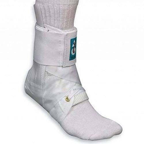 Basko ASO Fußbandage mit Klettverschluss | Weiß | Größe M | 30,5 - 33 cm Umfang für Schuhgröße 41 - 43 | Sprunggelenkbandage für schwere Verstauchungen | Knöchelbandage ideal für Sport