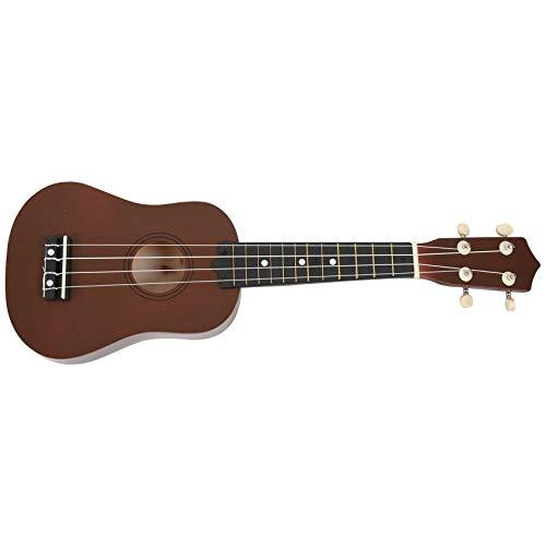 Nrpfell 21 Zoll Sopran Ukulele 4 Saite Hawaiian Gitarre Ukulele + Saite + Plektron fuer Anfaenger Kind Geschenk (Kaffee)