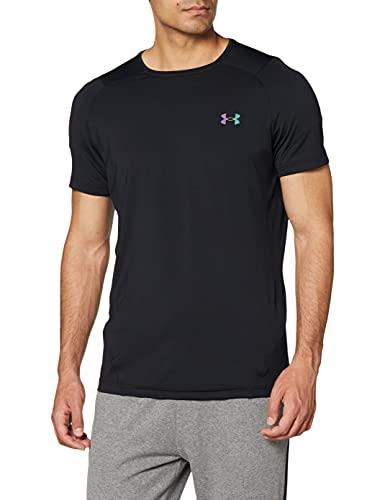 Under Armour UA HG Rush 2.0 SS Camiseta, Hombre, Negro/Negro, Small