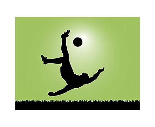 Fensterfolie Sichtschutz Fensterbild Fußballer in Aktion Aufkleber 10 x 14cm