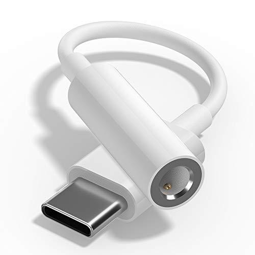 TITACUTE für Oneplus 8 Pro Kopfhörer Adapter, USB C auf Klinke 3,5mm Audio Adapter USB Typ C Klinkenstecker Adapter Aux Kabel Kompatibel mit OnePlus 8 7T 7 Pro 6T, Huawei P40 P20 P30 Pro Weiß