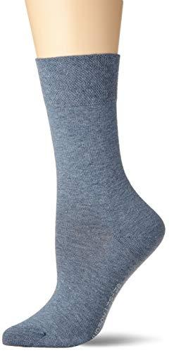 Hudson Damen Relax Cotton Socken, Blau (Jeans Mel. 0667), 39/42