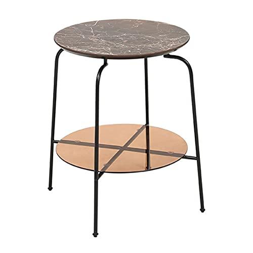 DUTUI Tavolino da Salotto A Due Piani Tavolino da Salotto Moderno E Minimalista Tavolino da Salotto Piccolo Tavolino Rotondo Luminoso Mobili da Soggiorno di Lusso